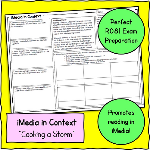 iMedia in Context Scenario & Questions Sheet 3