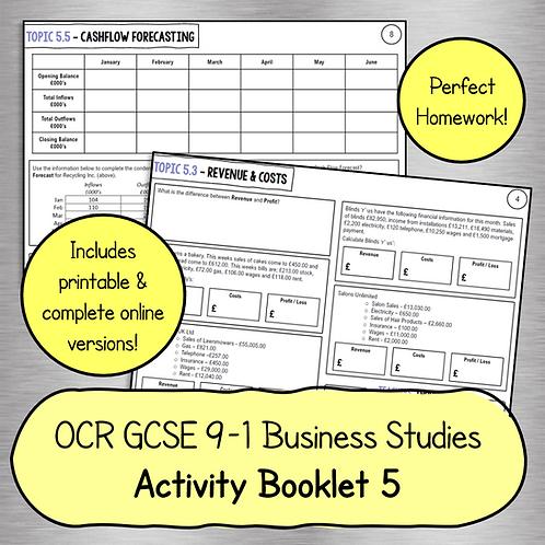 OCR GCSE Business Studies Activity Booklet 5 (Finance)