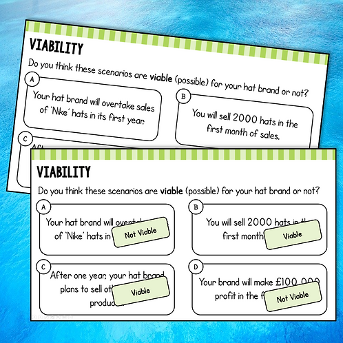 Viability Do Now / Starter Activity