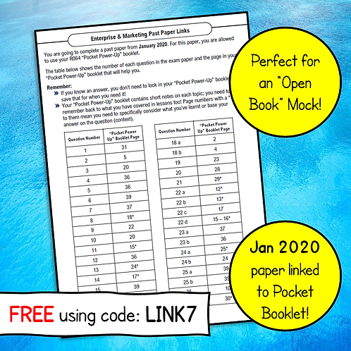 R064 January 2020 Exam Linked to Pocket Power Up Booklet (Free)