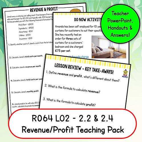 R064 2.2 & 2.4 Teaching Pack (Revenue & Profit)