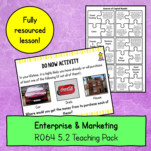 R064 5.2 Teaching Pack (Sources of Capital)
