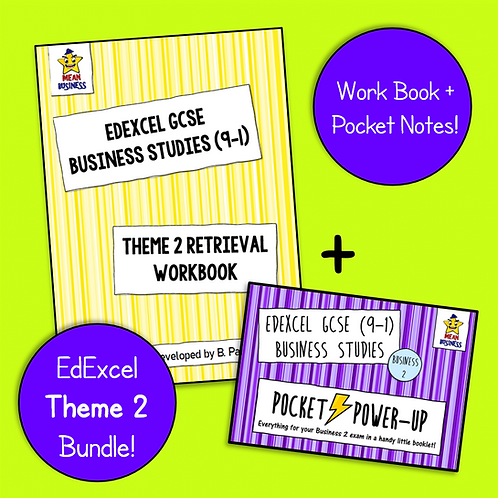 EdExcel GCSE Business Theme 2 Bundle (Pocket Notes + Retrieval Booklet)
