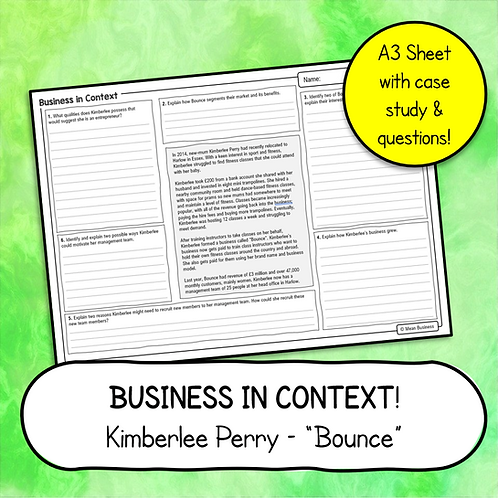 Business Case Study & Questions - Bounce (OCR Business 1)