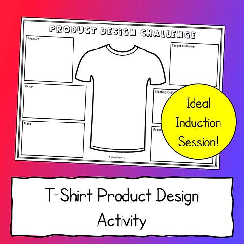 Product Design Activity (T-Shirts)