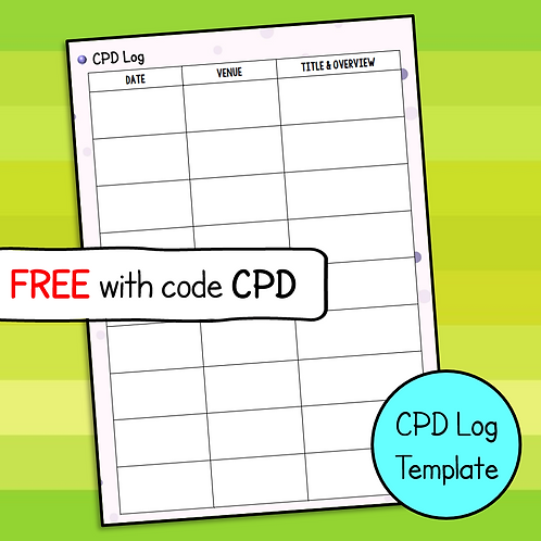 CPD Log Template (Free)
