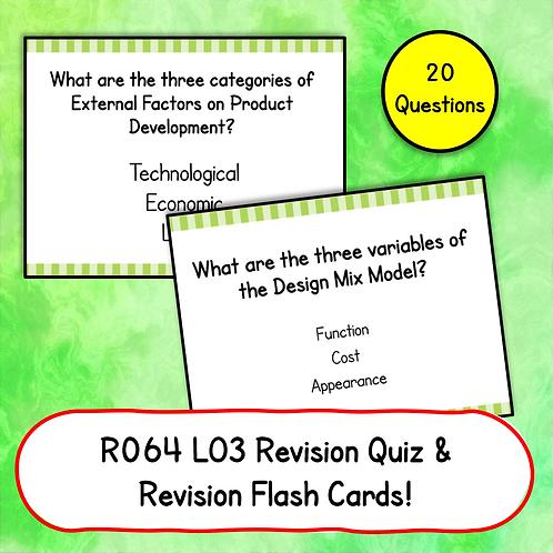 R064 LO3 Revision Quiz / Flash Cards