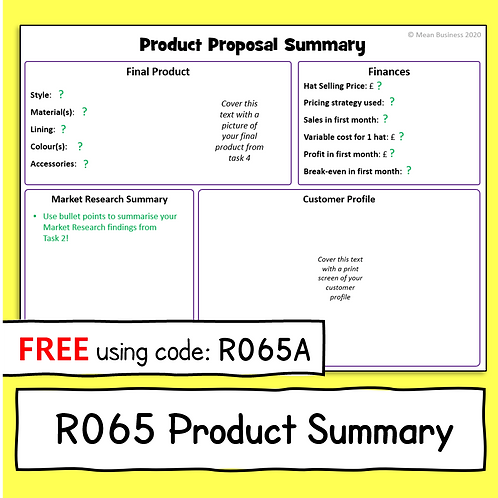 R065 Summary Sheet for transition to R066 (Free)