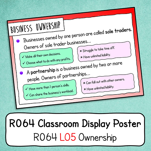 R064 LO5 - Explaining Ownership Poster / Handout
