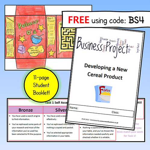 Create a Cereal Brand Business Project Booklet