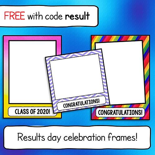 Results Day Celebration Photo Frames Kit