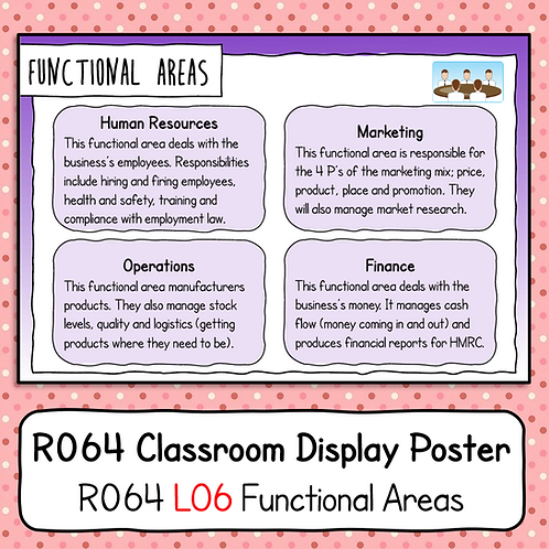 R064 LO6 - Explaining Functional Areas Poster / Handout