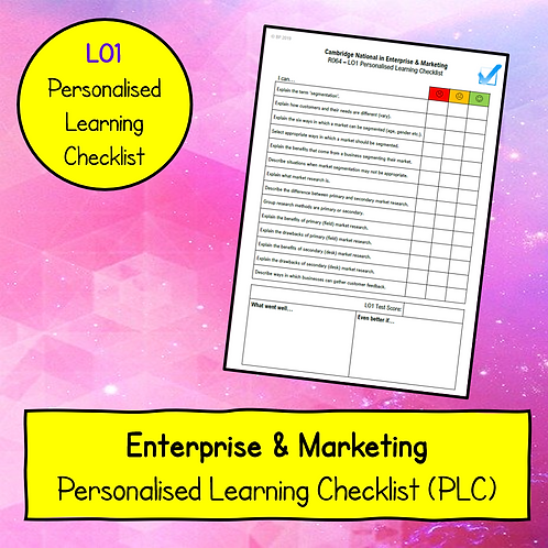 R064 LO1 Personalised Learning Checklist (PLC)