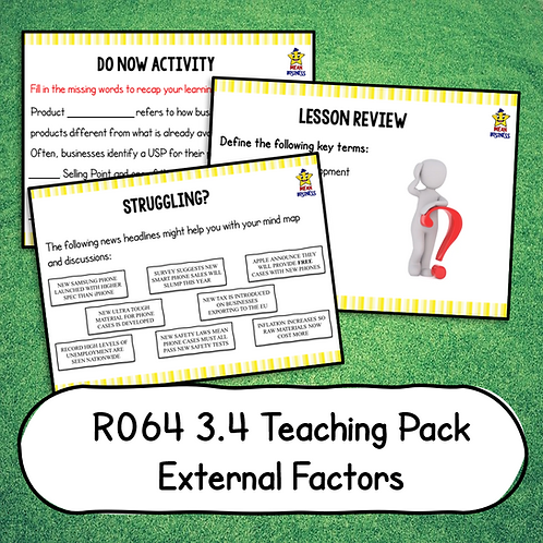 R064 3.4 Teaching Pack (External Factors)