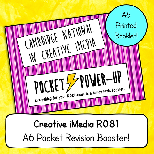 "Creative iMedia R081 ""Pocket Power-Up"" - A6 Revision Notes Booklet"
