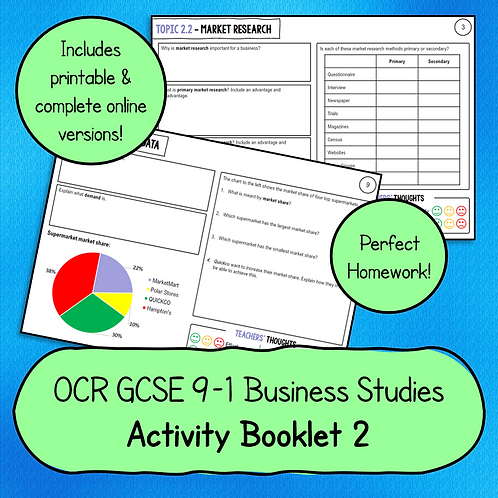 OCR GCSE Business Studies Activity Booklet 2 (Marketing)