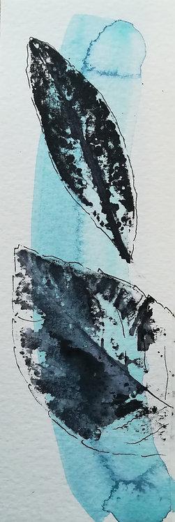 "Signet aquarelle ""Leaves"""
