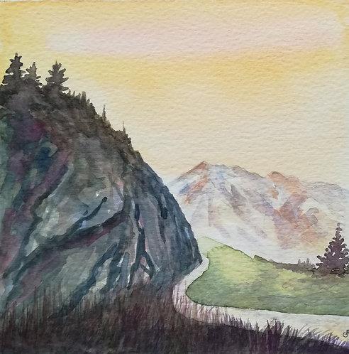 "Carte postale A5 ""Col de montagne"""