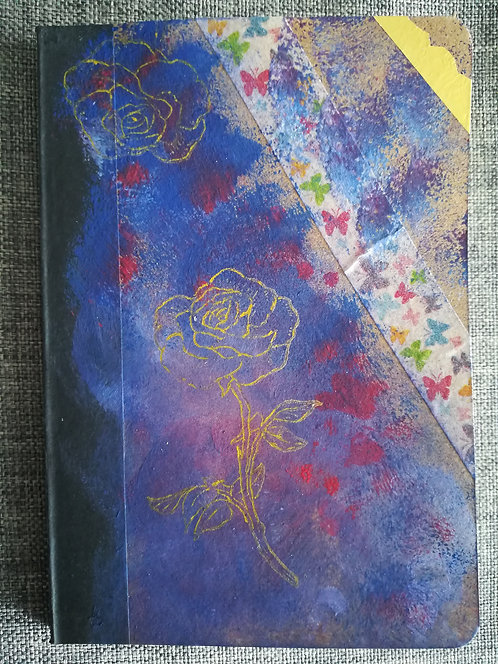 "Carnet ""Rose blues"""