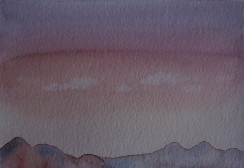 "Carte postale A6 ""Mountain sunset"""