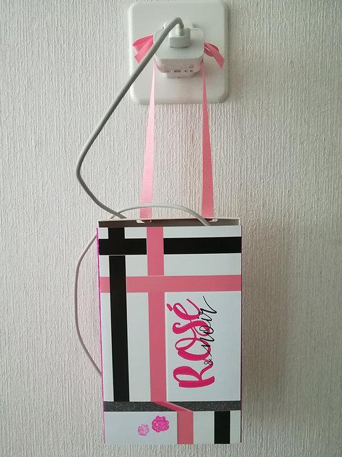 """Porte-chargeur """"Rosé & noir"""""""