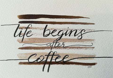"""Carte postale A6 """"Coffee"""""""