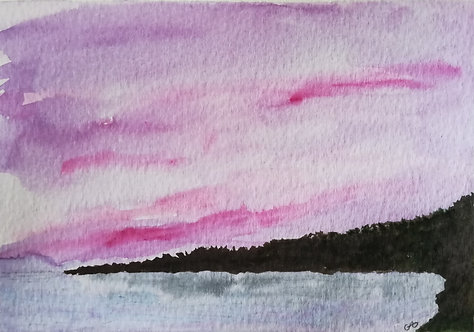 "Carte postale A6 ""Pink sunset"""
