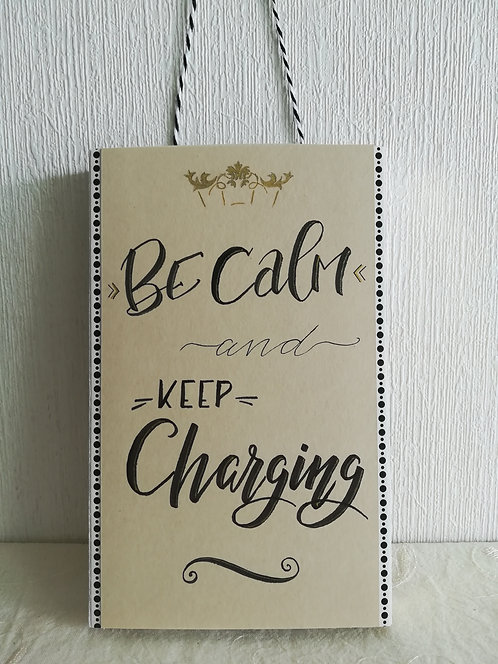 "Porte-chargeur ""Be calm"""