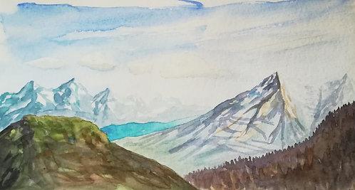 "Carte postale A5 ""Mountain & Lake"""