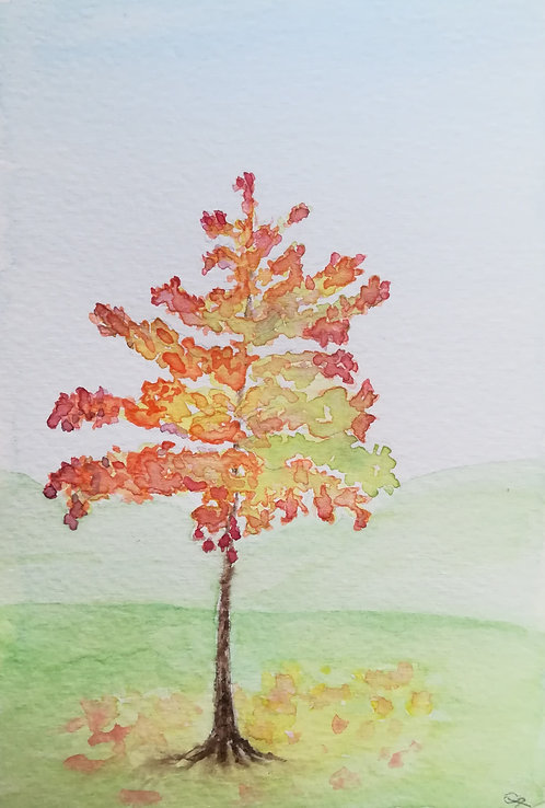 "Carte postale A6 ""Arbre en automne"""