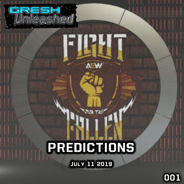 AEW FIGHT FOR THE FALLEN PREDICTIONS | GU 001