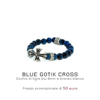 BLUE GOTIK CROSS