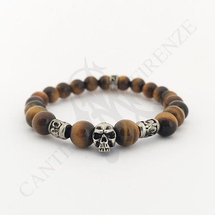 TIGER EYE LITTLE SKULL