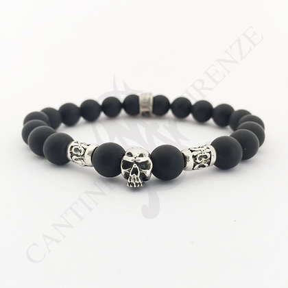 BLACK SILVER LITTLE SKULL