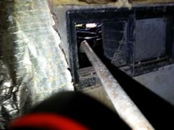 Broken vent before