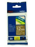"""Brother TZeMQ835 12mm (0.47"""") White on Satin Gold tape for P-touch 5m (16.4 ft)"""