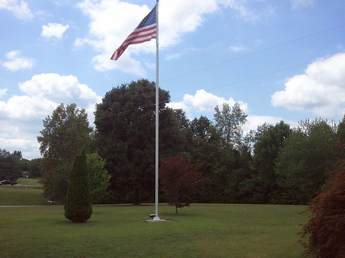 25 Ft External Halyard- Satin Flag Pole