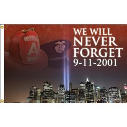 We Never Forget - 3x5' Nylon Flag