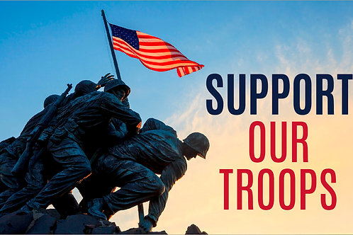 Support Our Troops - 3x5' Nylon Flag
