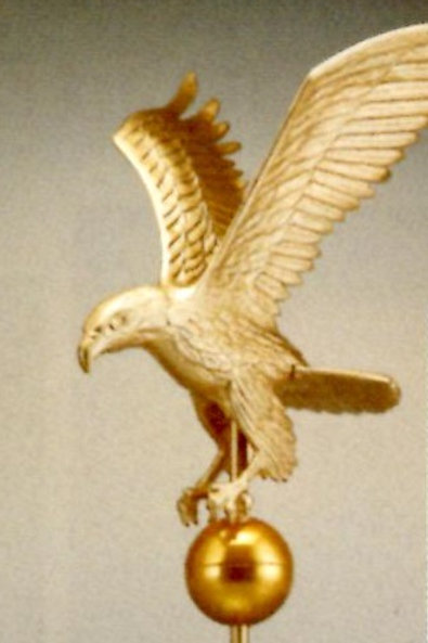 "Eagle on Flagpole Ball - 9"" - ETS-EAG0460"