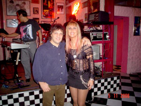 Com Lilian Knapp ( Leno e Lilian)