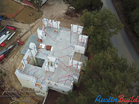 Austin Touchstone Builders - NetZero Model Home - 2nd Level ICF Installation