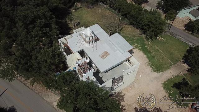 Austin Touchstone Builders - Netzero - Model Home - USG Concrete Panels and 3rd ICF stack