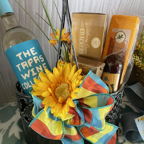 Gift baskets at Wine House