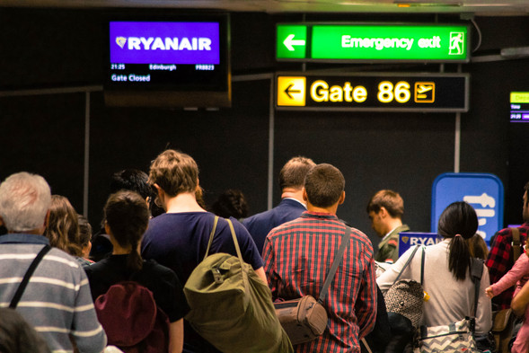 I flew from London to Edinburgh via Ryanair on a Friday night, solo.