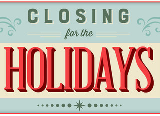 Holiday Office Closing