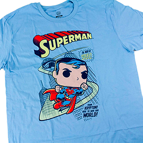 POP! Tees   DC Comics: Superman: The Man Of Steel!  (DC LOC Ex.)