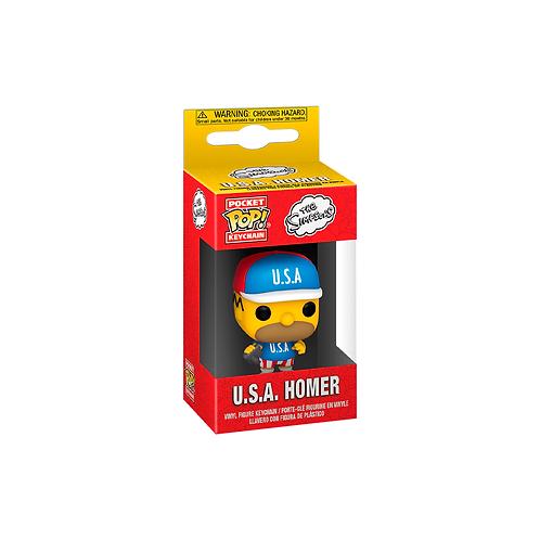 Pocket POP! Keychain | The Simpsons: U.S.A. Homer