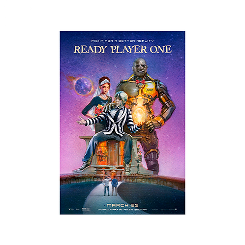 Poster A3 | Ready Player One: BeetleJuice #1