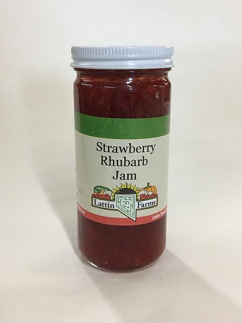 8 oz Strawberry Rhubarb Jam